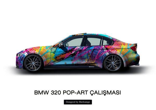 bmw3 popart color kişiye özel çalışması-1